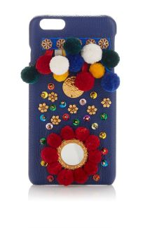 Blue Leather I Phone Case by DOLCE & GABBANA