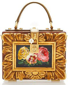 Dolce & Gabbana Fall 2015 Wood Framework Dolce Bag